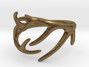 Antler Ring No.2(Size 8) in Polished Bronze