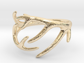 Antler Ring No.2(Size 8) in 14K Yellow Gold