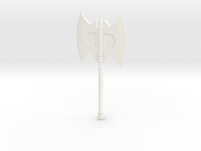 MOTUC Style Battle Axe in White Processed Versatile Plastic