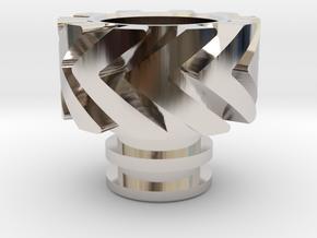 Warp Heat Sink in Rhodium Plated Brass