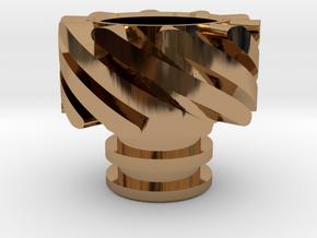 Turbo Driptip Heat Sink in Polished Brass