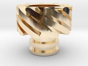 Turbo Driptip Heat Sink in 14k Gold Plated Brass