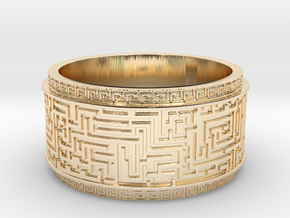 Ancient Maze ring in 14K Yellow Gold