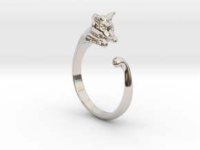 Cat Ring V1 - (Sizes 5 to 15 available) US Size 9 in Platinum