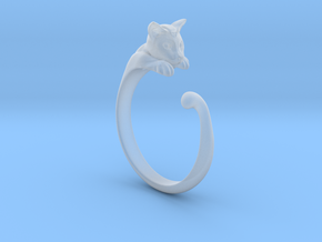 Cat Ring V1 - (Sizes 5 to 15 available) US Size 9 in Smooth Fine Detail Plastic