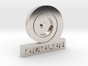 Omolon Foundry Personal Emblem in Rhodium Plated Brass