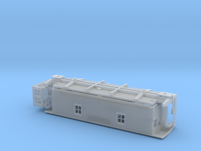 GTW Wood Underframe Caboose  HO Scale in Frosted Ultra Detail