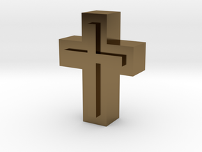 Cross1  in Polished Bronze