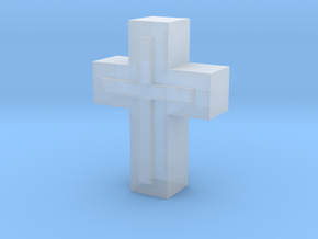 Cross1  in Smooth Fine Detail Plastic