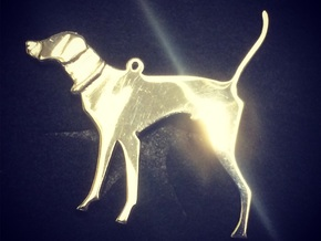 Pointer Pendant in Polished Silver