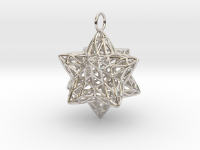 Christmas Bauble 2 in Rhodium Plated Brass