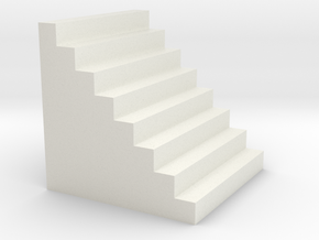 N Scale Staircase in White Natural Versatile Plastic