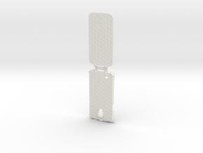 Samsung Galaxy S4 active - i9295 - hard flip case in White Natural Versatile Plastic