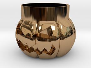 Halloween Pumpkin Glass New in Polished Brass