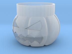 Halloween Pumpkin Glass New in Smooth Fine Detail Plastic