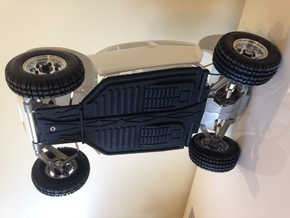 Tamiya Sand Scorcher custom scale chassis in Black Strong & Flexible
