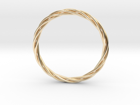 twisted bracelet in 14k Gold Plated Brass