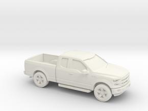 1/56 2015 F150 Ext Cab in White Natural Versatile Plastic