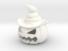 Halloween Pumpkin Witch in White Processed Versatile Plastic