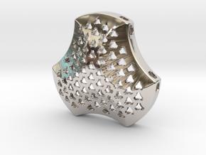 Shield Pendant 40mm in Platinum
