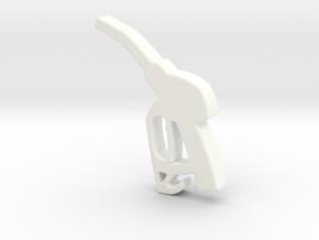 Refueling Gun in White Processed Versatile Plastic