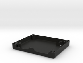 Uzebox bottom shell with ISP port in Black Natural Versatile Plastic
