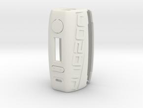 DNA200 Ergonomic case in White Natural Versatile Plastic