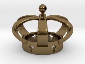 Crown, Kroon in Polished Bronze