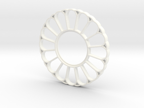 Lightsaber Imperator Tsuba in White Processed Versatile Plastic