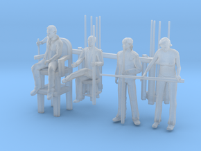 Pool Players - HO 87:1 Scale in Smooth Fine Detail Plastic