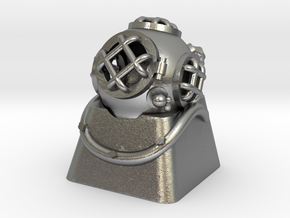Diver Helmet (For Cherry MX Keycap) in Natural Silver