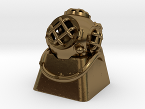 Diver Helmet (For Cherry MX Keycap) in Polished Bronze