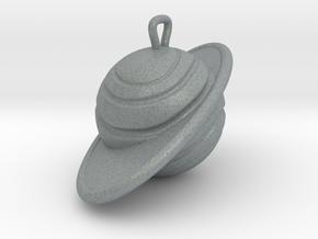 Saturn Pendant in Polished Metallic Plastic