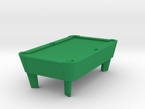 Pool Table - Cleared 'O' 48:1 Scale in Green Processed Versatile Plastic