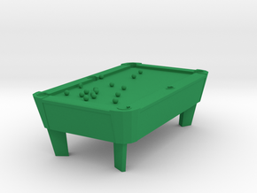 Pool Table - Balls Broke 'O' Scale in Green Processed Versatile Plastic