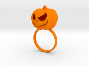 Pumpkin ring - Size 8 in Orange Strong & Flexible Polished