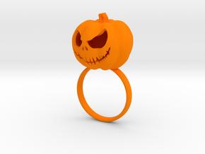 Pumpkin ring - Size 8 in Orange Processed Versatile Plastic