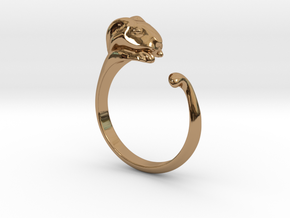 Rabbit Ring - (Sizes 5 to 15 available) US Size 9 in Polished Brass