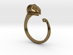 Rabbit Ring - (Sizes 5 to 15 available) US Size 9 in Polished Bronze