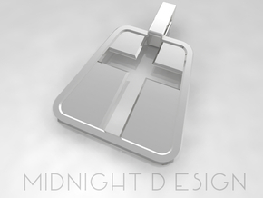 """Cross Pendant """"Inverse"""" in Fine Detail Polished Silver"""