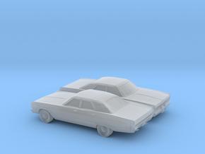 1/160 2X 1969 Plymouth Fury Sedan in Smooth Fine Detail Plastic