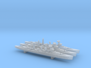 HMS Carlisle 1:1800 x3 in Smooth Fine Detail Plastic