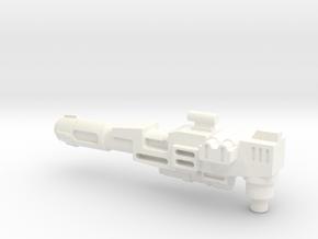 Transformers Thunderclash OVERSIZED gun. in White Processed Versatile Plastic