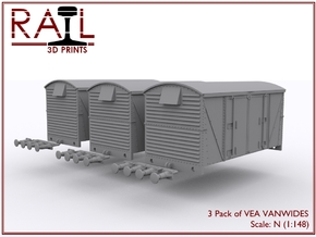 3 Pack - VEA - VANWIDE - N Scale in Smooth Fine Detail Plastic
