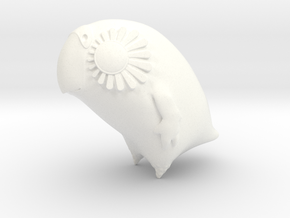 Large Kakapo (lux) Version 2 in White Strong & Flexible Polished