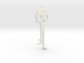 Skeleton Key Necklace in White Natural Versatile Plastic