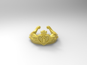 Sailor Moon Neo Queen Crown RING  in White Natural Versatile Plastic