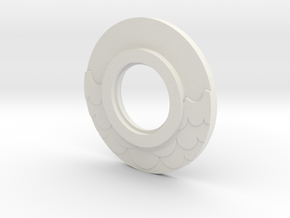 MHS compatible Water Tsuba in White Natural Versatile Plastic