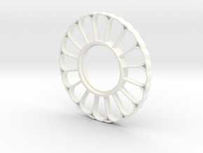MHS Compatible Imperator Tsuba in White Processed Versatile Plastic