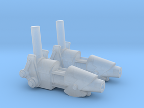ENTERPRISE NX01 SET OF 2 PHASE CANNON  in Smooth Fine Detail Plastic
